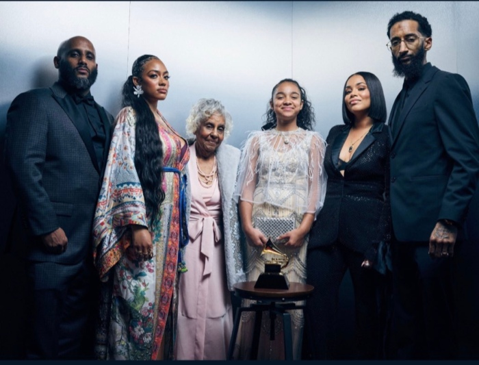 Nipsey Hussle Family Came And Took Over The Grammy ( Photo + Videos)