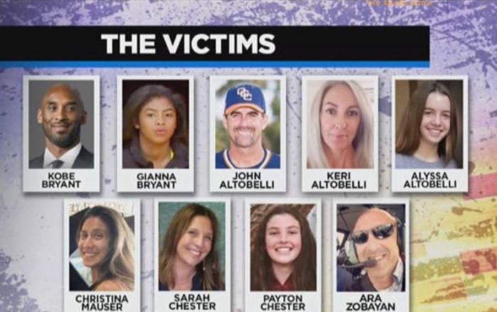 Here Are The 9 Victims Of The Calabasas Helicopter Crash That Killed Kobe Bryant And His DaughterGianna